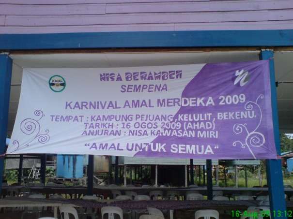 Hand made banner by Kak Ainul..mantop! :)